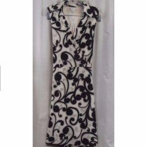 NY&C Black White Sleeveless Career Dress XL